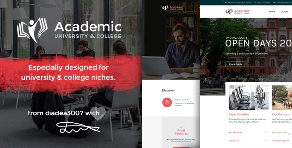 Academic - University & College PSD Template - Corporate Photoshop