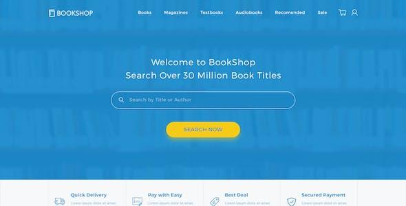 Bookshop - Online Book Store Template PSD