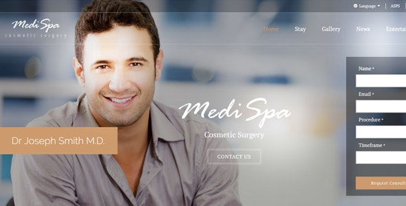 MediSpa Cosmetic Surgery HTML Template - Health & Beauty Retail