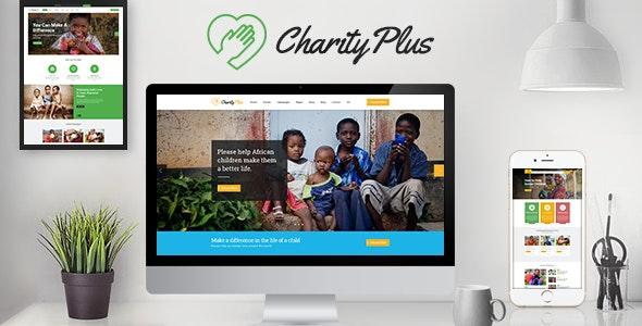 CharityPlus - Multipurpose Nonprofit Charity Organization PSD Template - Charity Nonprofit
