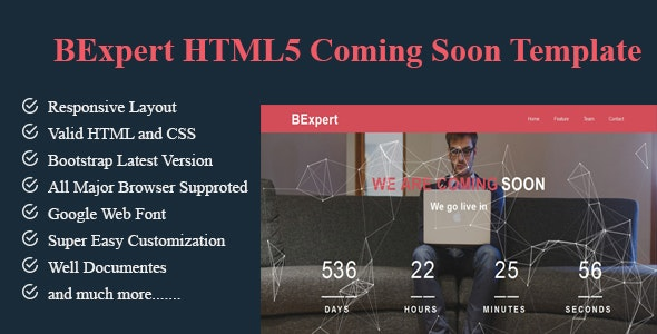 BExpert-HTML5 Coming Soon Template - Under Construction Specialty Pages
