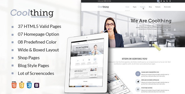 Cool Corporate Business HTML Template - Corporate Site Templates
