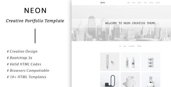 NEON - Bootstrap Creative Portfolio Template - Portfolio Creative