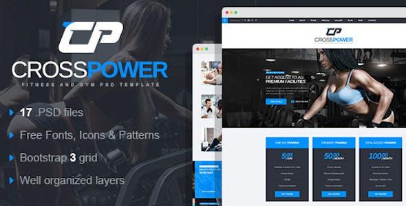 CrossPower - Sport Gym Fitness PSD Template