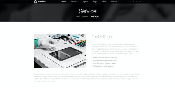 RepairMe - gadgets & home appliance repair workshop PSD template
