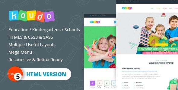 Koudo EducationHTML5 Template - Corporate Site Templates