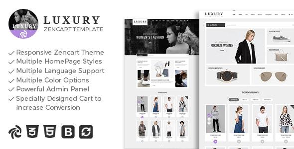 Luxury - Responsive Zencart Theme - Fashion Zen Cart