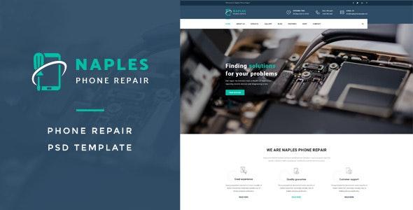 Naples : Phone Repair PSD Template - Business Corporate