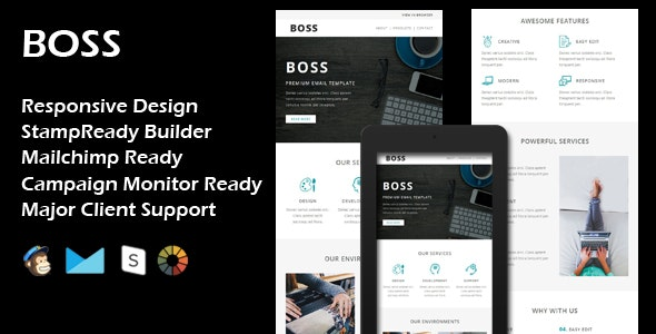 BOSS - Multipurpose Responsive Email Template - Email Templates Marketing