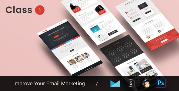 Class One - Multipurpose & Responsive Email Template + Builder - Email Templates Marketing