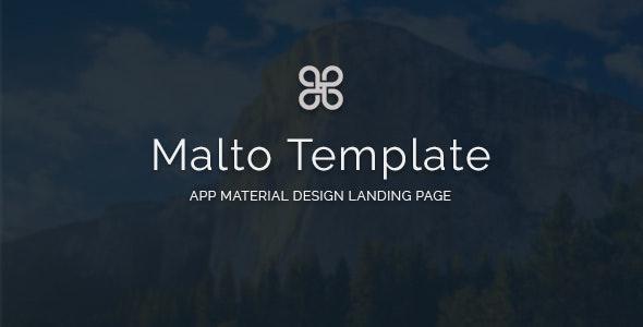 Malto - Material design App Showcase Template - Software Technology