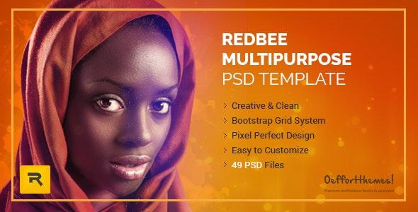 Redbee | Multipurpose PSD Template vol-01 - Business Corporate