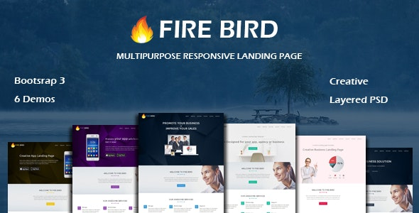 FIRE BIRD - Multipurpose Responsive HTML Landing Page - Landing Pages Marketing