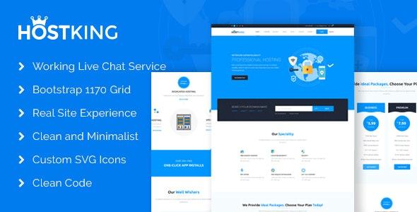 HostKing - Responsive Web Hosting Domain Technology Site Template - Hosting Technology
