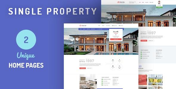 Rose Villa: Single Property PSD Template - Business Corporate