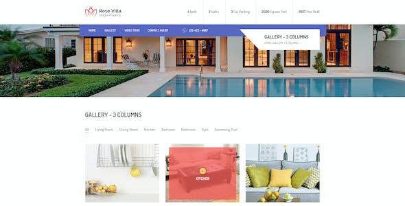 Rose Villa: Single Property PSD Template