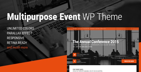 Event & Conference WordPress Theme - Events Entertainment