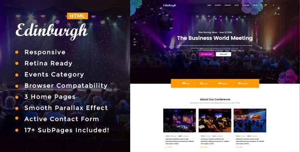Edinburgh - Conference & Event HTML Template - Events Entertainment