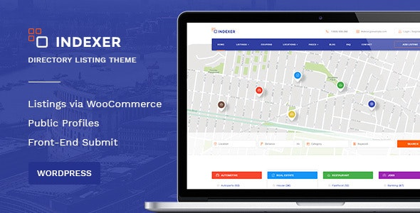 WordPress Classified Ads Marketplace Theme  - Indexer - Directory & Listings Corporate