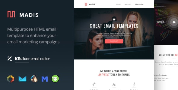 Mandis - Responsive Email Template + Builder 1.0 - Email Templates Marketing