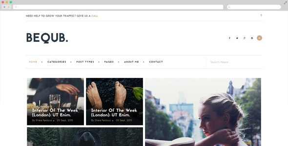 BEQUB - The Bloger HTML5 Responsive Template - Personal Site Templates