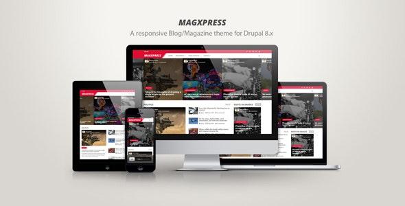 MagXpress - A responsive blog/magazine theme for Drupal 8.x - Blog / Magazine Drupal