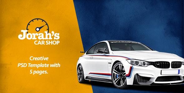 Jorah's Car Shop - PSD Template - Creative PSD Templates