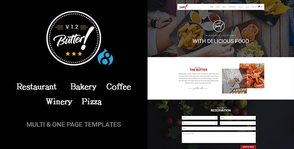 Butter - Professional Restaurant and Pizza Drupal 8.8 Theme - Experimental Creative