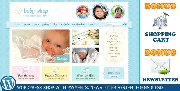 Cute Sweet WordPress - Children Retail