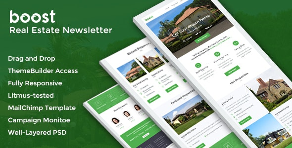 Boost - Real Estate Email + Online Builder Access - Email Templates Marketing