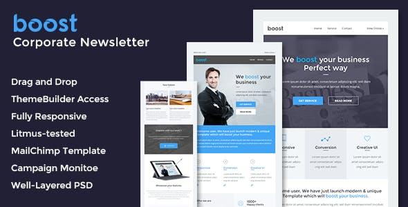 Boost - Corporate B2B Newsletter + Online Builder Access