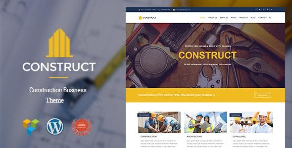 Construct - Construction & Business WordPress Theme - Business Corporate