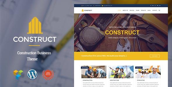 Construct - Construction & Business WordPress Theme