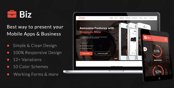 Biz - Business Landing Page HTML5 Template - Landing Pages Marketing