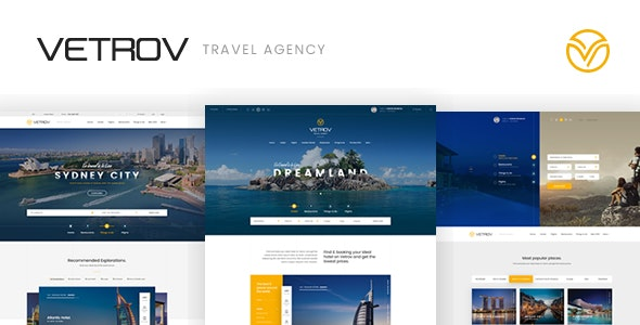 Vetrov - Hotels, Tours & Travel PSD Template - Travel Retail