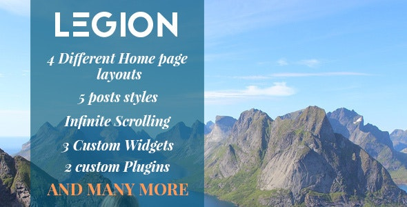 Legion - A Multipurpose Responsive WordPress Blog Theme  - Blog / Magazine WordPress