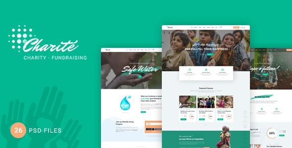 Charité - Charity/Nonprofit PSD Template - Charity Nonprofit