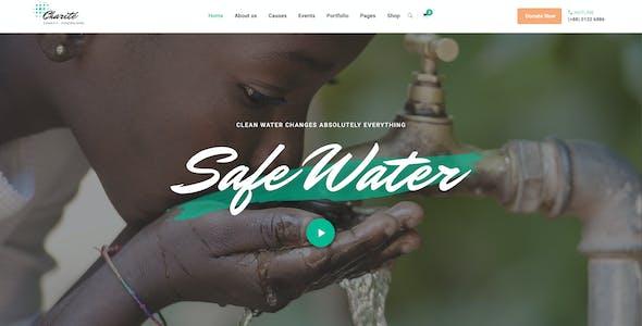 Charité - Charity/Nonprofit PSD Template