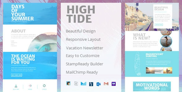 High Tide - Creative Email Newsletter - Newsletters Email Templates