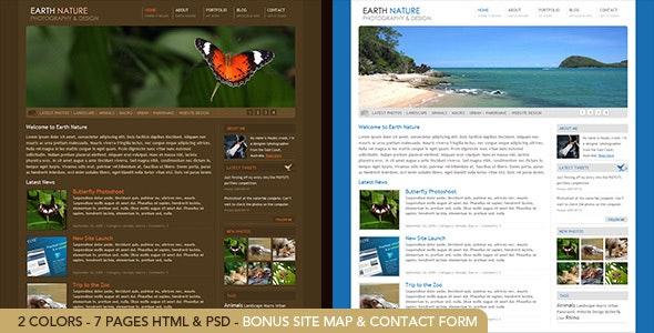 Earth Nature - HTML - Photography Creative