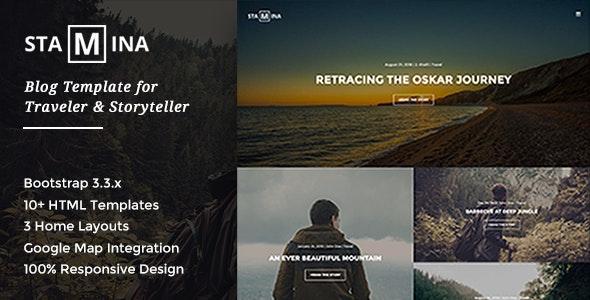 Stamina - Blog Template for Traveler & Storyteller - Travel Retail