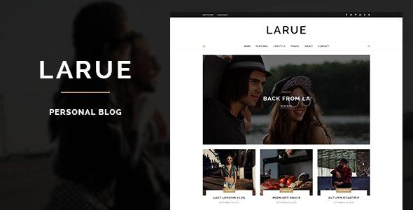 Larue - Personal Blog PSD Template - Personal PSD Templates