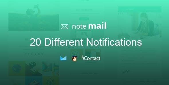 Note Mail - 20 Unique Responsive Email set + Online Access
