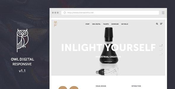 OWL Digital Responsive - Creative Agency Muse Template - Creative Muse Templates
