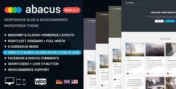 Abacus - Responsive Blog & Shop Theme - Blog / Magazine WordPress