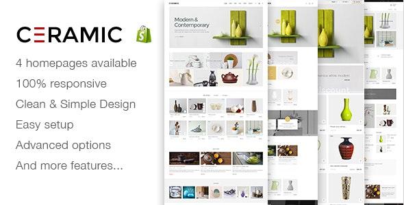 JMS Ceramics - Responsive Shopify Theme - Shopify eCommerce