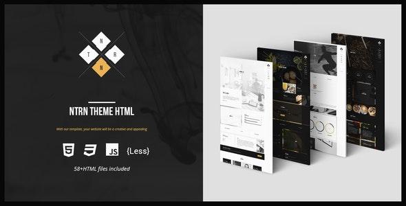 NTRN - Creative and Multipurpose HTML Template - Creative Site Templates