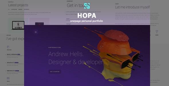Hopa - Onepage Personal Portfolio - Personal Site Templates