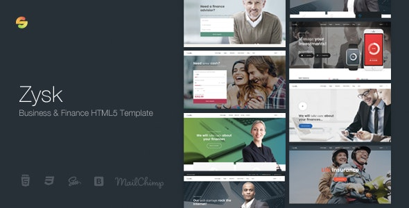Zysk - Advisior & Finance HTML5 Template - Business Corporate