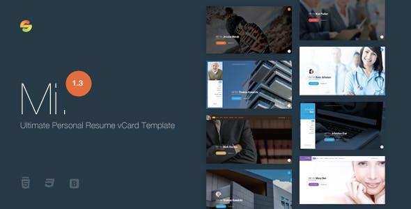 Mi. - Ultimate Personal Resume vCard Template